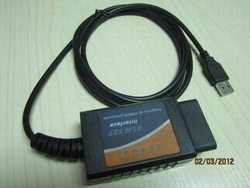 Wholesales and Retail OBD/OBDII scanner ELM 327 car diagnostic interface scan tool ELM327 USB(China (Mainland))