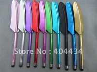Colorful legend feather stylus touch pen for capacitive screen  high sensitive 500pcs/lot