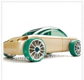 Mini Sport Car Germany Automoblox DIY Wooden Building Blocks Children educational toy Free shipping,1pcs