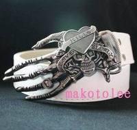 Punk white male strap belt casual personality skull fashion belt female