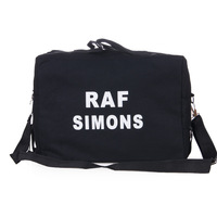 2012 autumn women's handbag bag brief letter canvas bag handbag messenger bag backpack black white