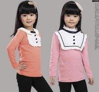 Free shipping children girls hoody shirt Tshirts top cheap junior clothing kids baby clothes cotton 2-10 year