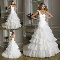 Wholesale price chiffon beaded sexy side slit bridal wedding dresses