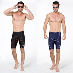 Fashion men&#39;s professional swimming trunks male Men swimming pants medium-long lines(China (Mainland))