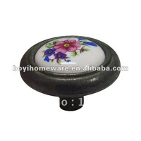 circal ceramic knob zinc alloy knob wholesale and retail shipping discount 100pcs/lot S01-BK