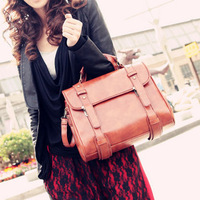Free Ship[ping, 1PCS, 2012 Fashion New Design Autumn Women's Handbag Buckle Vintage Bag for Ladies, PU  Shoulder Bags