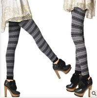 Free shipping   Fashion thickening legging   Seamless wave jacquard leggings   basic leggings