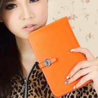 Luxury wallet women's handbag 2014 bag passport holder cowhide clutch women's genuine leather medium-long wallet