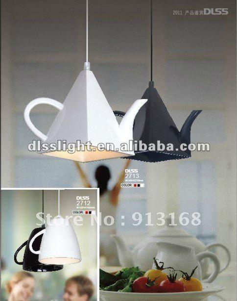 Светильники из чашек для кухни своими руками