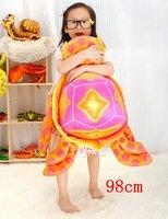 Free shipping!98cm big eye turtle big size creative plush toy stuffed animals pillow cushion home decor child birthday gift