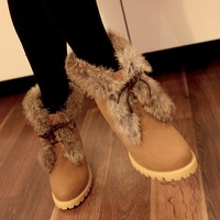 2012 high-heeled snow boots round toe fur boots winter boots platform boots cotton boots casual boots