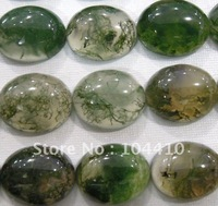 8x10mm New Moss Agate Oval stone CAB Cabochon Beads Wholesale