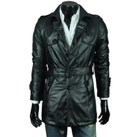 Мужские изделия из кожи и замши HOT Men's leather jackets for men slim Locomotive short sexy design coat jacket, you worth have it