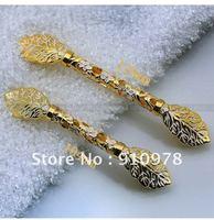 5 pcs 128mm  Luxury Filigree gold handle European doorknob free shipping