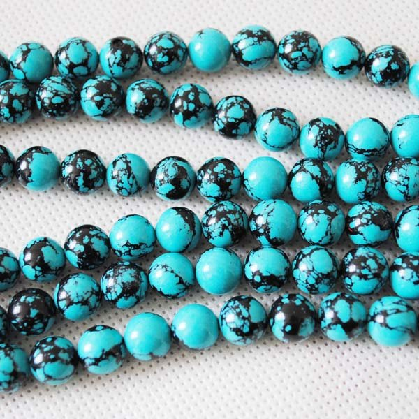 Free Shipping ! 114 Pcs/Lot,Loose Turquoise Bead (Synthetic Stone Material),New Designs of Jewelry Making Accessories,Size:10mm(China (Mainland))