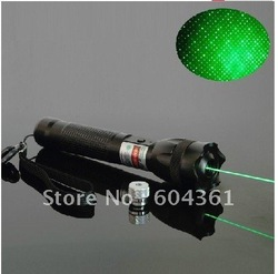 1000 mW 532nm green laser pointers with a lock focus with all over the sky star/burn matches,2 in 1 star,free shipping by ems(China (Mainland))