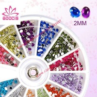 Free shipping12 Color Ellipse Nail Art Gems Rhinestones Deco Glitters Beautiful decoration