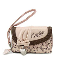 SNOOPY snoopy women's color block coin purse 2012 short design key mobile phone bag