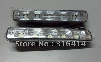 2012 new! 2x 5 LED Universal Waterproof White Daytime Running Day Light Lamp DRL