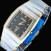 Gift tungsten steel table lovers table tungsten steel mens watch square male watch