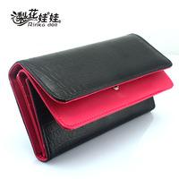 Free Shipping Pear doll wallet female double flip stone pattern long design women's wallet women's wallet