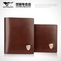 Free Shipping Short design SEPTWOLVES male genuine leather wallet Men cowhide wallet lovers wallet
