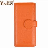 Free Shipping 2012 women's wallet medium-long genuine leather wallet