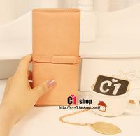 Free Shipping Wallet classic vintage leather drawstring type multifunctional women's long design wallet