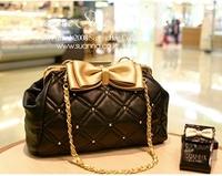 2012 women's bags handbag vintage bag bow rivet chain new arrival