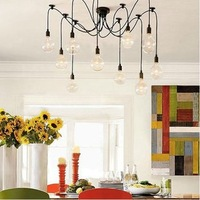 [free shipping]10 Lights bulbs Edison Chandelier Lighting big pendant light