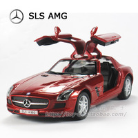 Soft world gullable door sls-amg roadster WARRIOR alloy car model toy