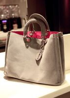 E-shop bags leather chamois big bag handbag messenger bag women's handbag genuine leather