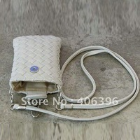 Neck Strap + Knit Woven Leather Mobile Phone Pouch Bag For iPhone 5 5G