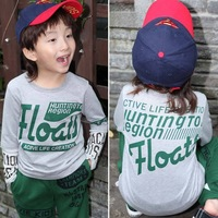 Free shipping Autumn children long-sleeve T-shirt clothing/boy's and girl's o-neck Clothes letter printing
