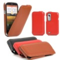 High Quality For HTC Desire V T328W Hard Genuine Leather Case Cover Mobile Phone Pouch Handbag Free Shipping