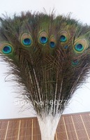EMS Free Shipping Wholesale 200pcs 80-90cm 30-35 inches natural peacock feather peacock plume peacock plumage