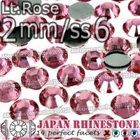2mm SS6 Lt.Rose 3000pcs/bag,Nail Crystals Non Hotfix Rhinestones Resin Flat Back stones glitters for Glue DIY Nail Art