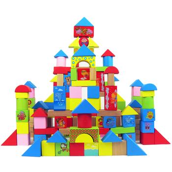 Building blocks 100 bottled infant wooden toys