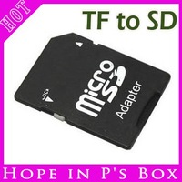 Free Shipping 500pcs Good Qulaity SD card adapter TF MICRO SD/SDHC TO SD CARD Adapter