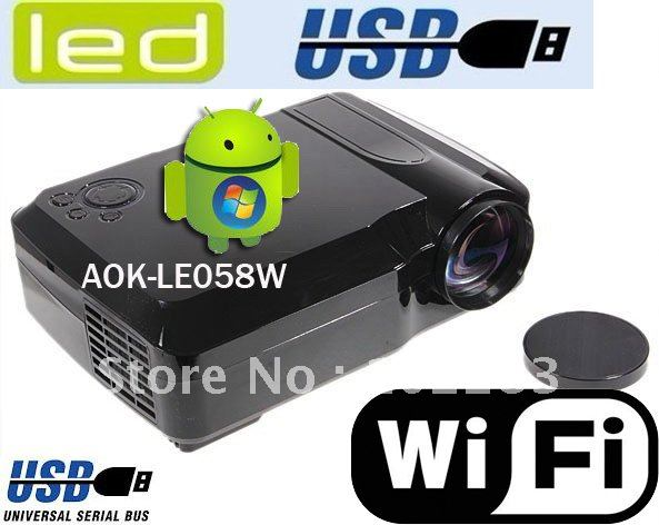 Android projector with WiFi+HDMI+2*USB+AV+VGA+YPbPr/YCbCr+S-video(China (Mainland))