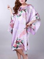 Free shipping purple womens robe gown sleepwear  Kaftan one size style