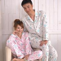 2012 spring and autumn slepwear women's cotton long-sleeve sleepwear Women o-neck blue princess lounge set