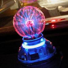 Free Shipping High-quality Glass Plasma Ball Sphere USB+vehicle-mounted+audio control+Gift box  Lightning Light Lamp Party(China (Mainland))