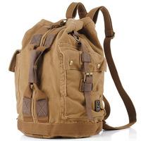 sports men Cotton men's fashion vintage backpack canvas bag backpack travel bag bucket bag 1113 backpack unisex