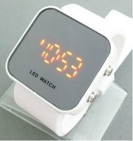 Led watch fashion personality mirror table fashion ladies watch makeup mirror