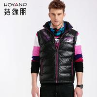 30%off Hoyanp winter shiny fashion slim thermal Men male down vest ha-100