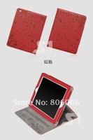 free shipping by DHL Cute Smart Cover leather stand holder cover For Ipad2 ipad 3