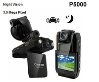 "3.0 Mega pixel Car Camera with140 Degree Wide Angle and 2-LED Flash Light 2.0"" LCD Car DVR Car Video Recorder P5000"