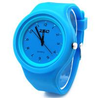 Free Shipping Zgo quartz watch fashion jelly table candy rhinestone watch silica gel casual watch 6056