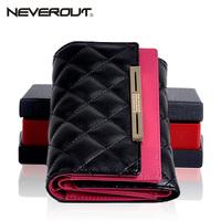 Free Shipping Wallet women's wallet female short design fashion color block long design wallet plaid diamond clutch
